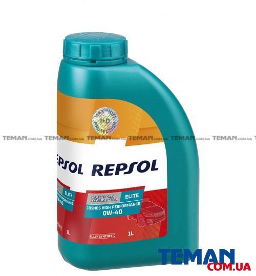 Синтетическое моторное масло REPSOL ELITE COSMOS HIGH PERFORMANCE 0W40, 1л