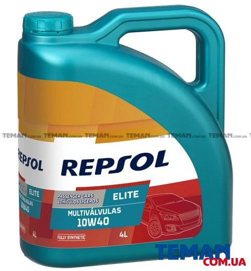 Синтетическое моторное масло REPSOL ELITE MULTIVALVULAS 10W40, 4л