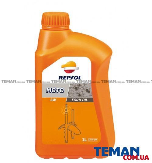 Гидравлическое масло REPSOL MOTO FORK OIL  5W, 1л