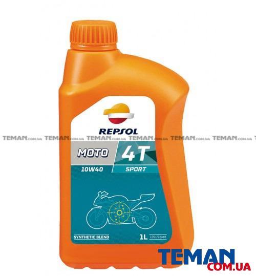 Полусинтетическое моторное масло для 4Т двигателей REPSOL MOTO SPORT 4T 10W40, 1л