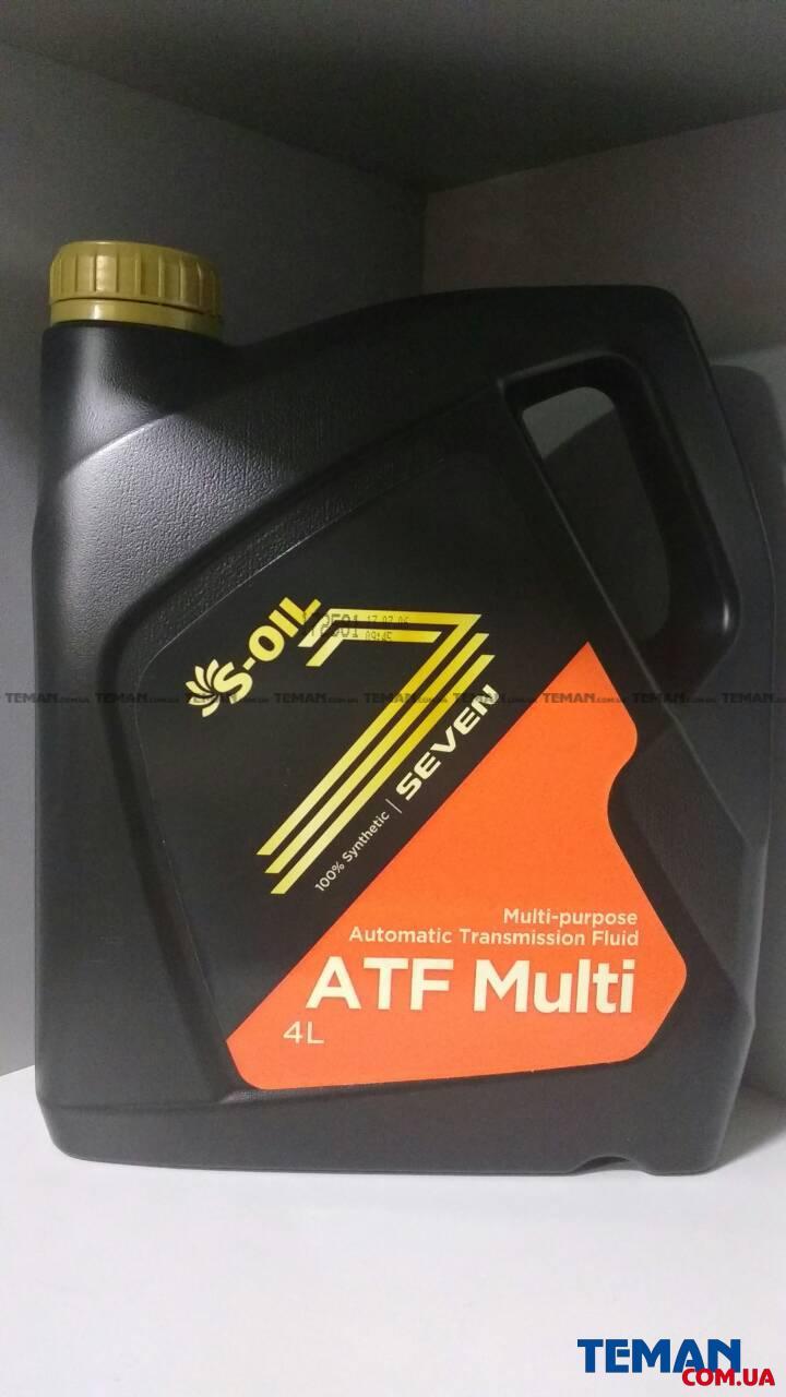 Синтетическое трансмиссионное масло SEVEN ATF MULTI, 4 л