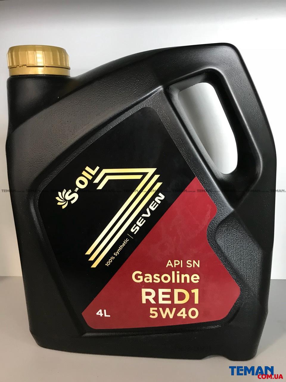 Синтетическое моторное масло S-OIL SEVEN RED1 5W40, 4л