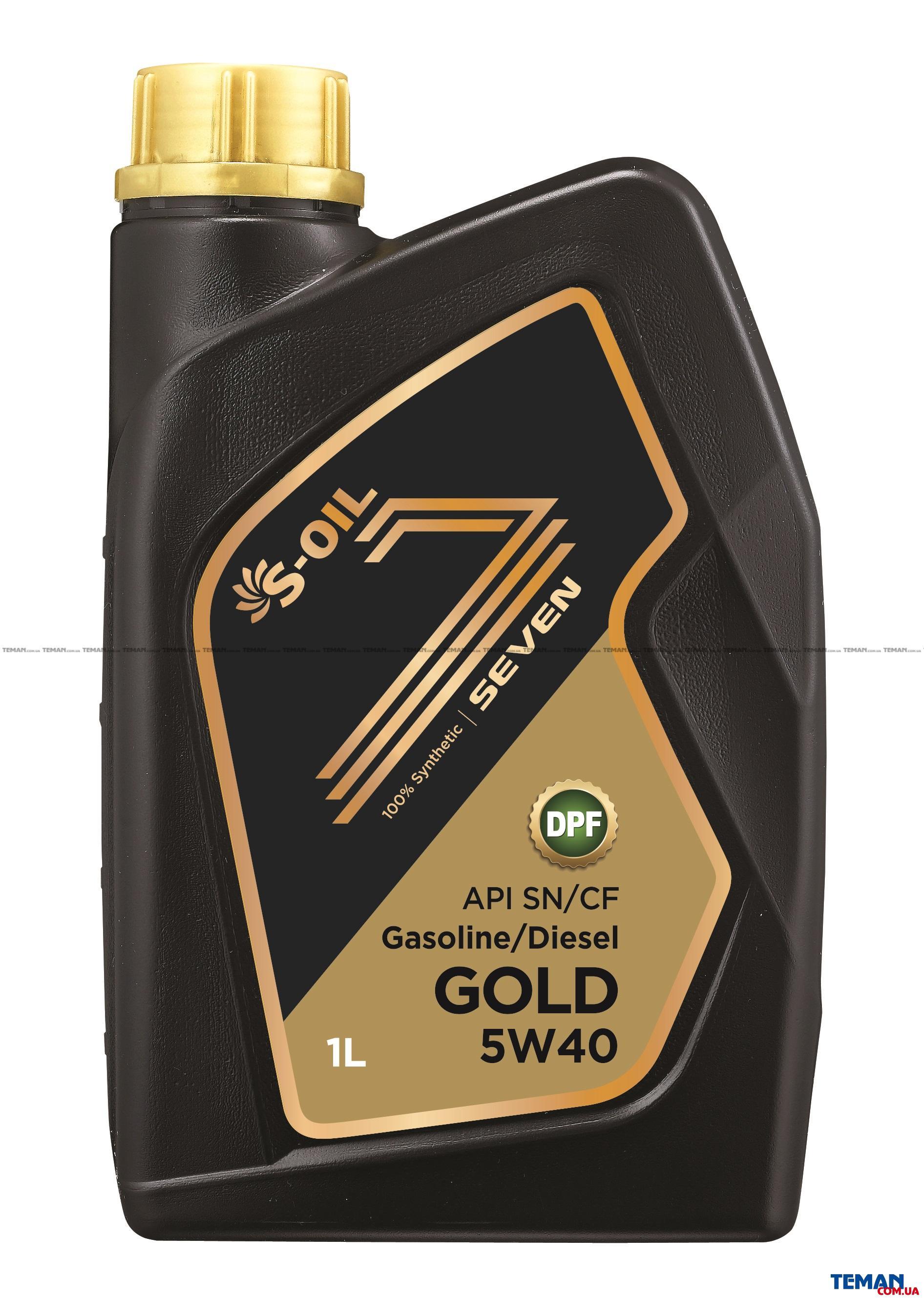Синтетическое моторное масло SEVEN GOLD 5W40, 1 л