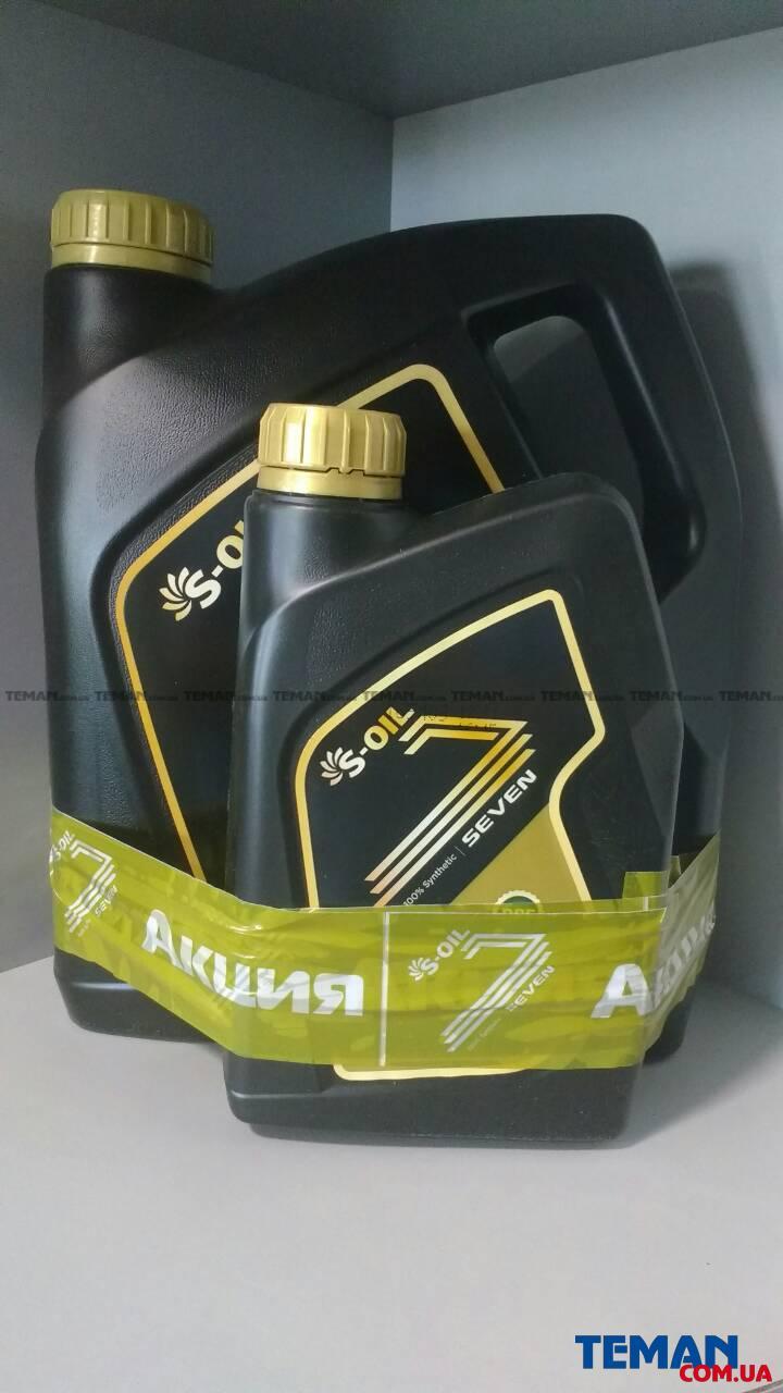 Синтетическое моторное масло SEVEN GOLD 5W40, 4л +1л