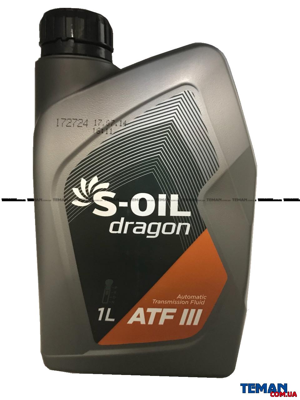 Синтетическое трансмисионное масло DRAGON ATF III, 1л